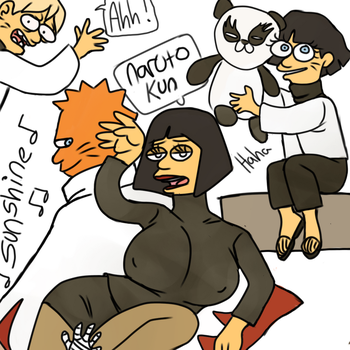 SIMPSONS OF THE NARUHINA FAMILY XD by annebunny