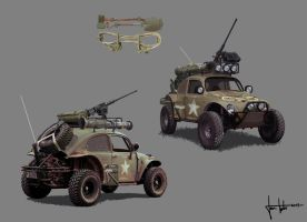 Military Baja Beetle concept by JanTuts