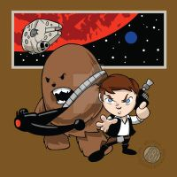 Star Wars Han and Chewie Chibi by Sideways8Studios