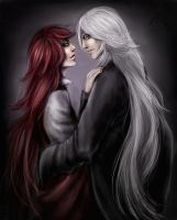 Grey and Red by CocaineJia