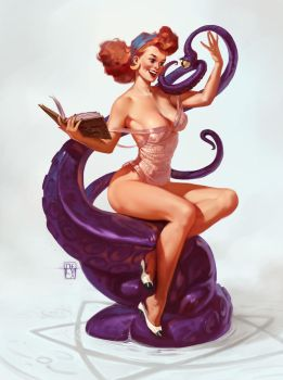 Cthulhu Pin Up by antoniodeluca