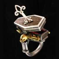 Locking Coffin Ring with Key by w-l-g