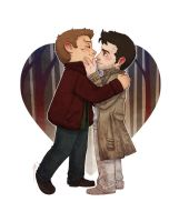 Meanwhile in Purgatory  - Where's your beard Dean? by JoannaJohnen