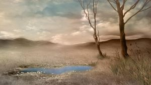 165 Sepia Landscape by Tigers-stock