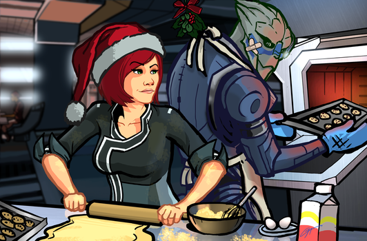 Shepard Christmas by Garrenh