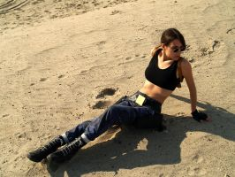 Lara Croft Cosplay: sand by TanyaCroft