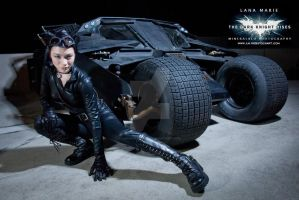 Catwoman and the BatMobile_Tumbler by LanaMarieLive