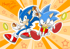 Happy 21st Sonic by SonicSpeedz