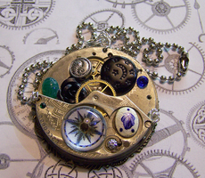 Watch Movement with Compass by mymysticgems