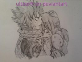 natsu and lucy by FemkeD