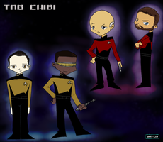 ST: TNG Chibis by BBMacToma