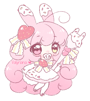 CLOSED CRAYON ADOPT Dessert Bunny by Valyriana