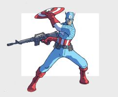 Captain America by jdcunard