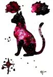 Inky Galaxy Cat by Actlikenaturedoes