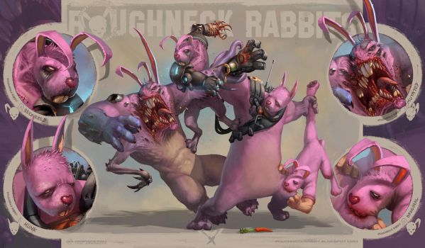 4 Roughneck Rabbits by Kai-S