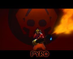 TF2 Pyro red by The-Loiterer