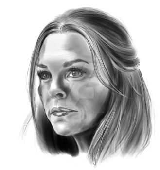 abby griffin portrait 106 / paige turco / the 100 by miss-ninja-cookie