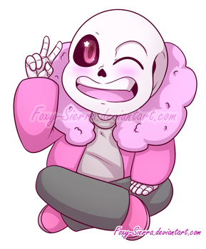 Commission- Cotton Candy Sans by Foxy-Sierra