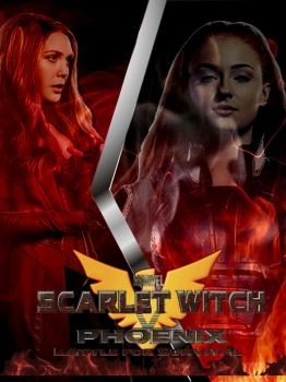 Scarlet Witch V Phoenix Poster (young jean grey) by Art-Master-1983
