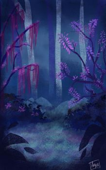 Blue forest by Akyra93