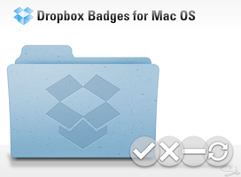 Dropbox badges for Mac OS X by SebDominguez