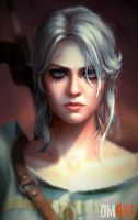 Ciri The Witcher III Fanart Closeup version by OmarDiazArt