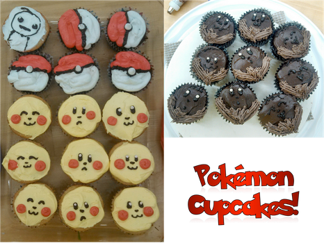 Pokemon Cupcakes by LoneWolf974