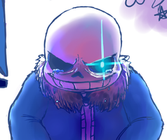 Sans Sketch Page #1 by LucyArkwright