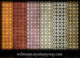 grungy retro patterns by WebTreatsETC