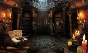 Phantom of the opera. Library by Katie-Watersell