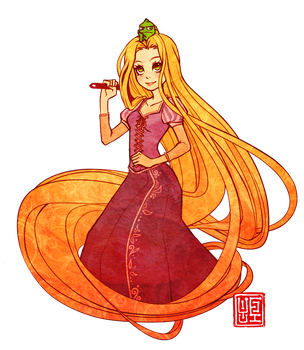 Tangled Rapunzel by Yufei