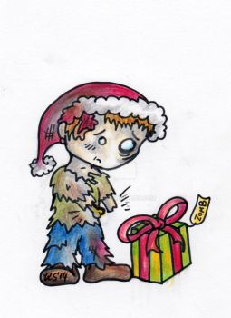 Zombie Christmas Card Design 3/4 by sivvus