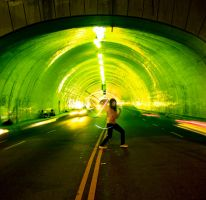 Light in the Tunnel by orangeycow