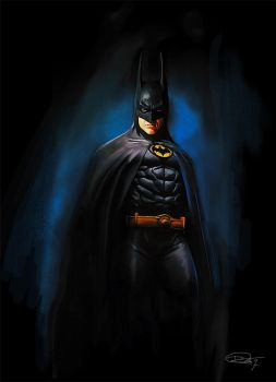Michael Keaton Batman by DanielMurrayART