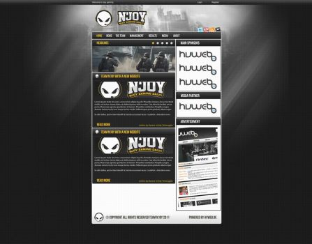 Team Njoy webdesign by w3nky