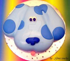 Blue Clues Cake by ginas-cakes