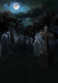 Graveyard Moonlight by missimoinsane