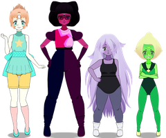 The Crystal Gems ~ Part 1 by OnionFairy99