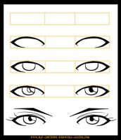 How to Draw Anime Eyes 2 by LeQueen