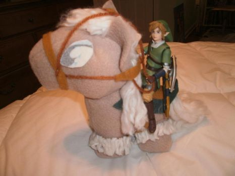 My Little Epona With Link by ZeldaQueen64