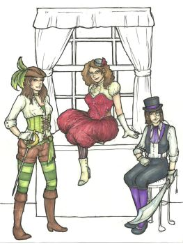 Steampunk Family by Moon-Unit-Omega