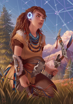 Aloy ~ Horizon Zero Dawn by Blunell