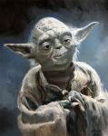 Yoda Star Wars Painting by Stungeon