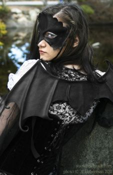 Leather Bat Wings and Mask by Beadmask