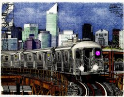 Outbound 7 Train by Black-Ronin