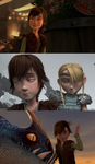 Fem!Hiccup: Silly Faces by AvannaK
