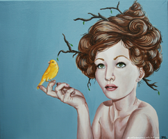 Song for Spring: Canary by plantiebee