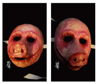 Happy Pig mask by deadwrong777