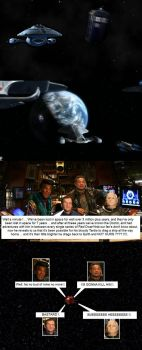 The Tardis pulls U.S.S. Voyager home to Earth by DoctorWhoOne