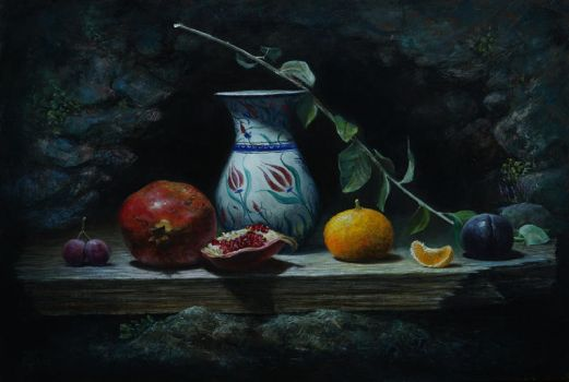 Porcelain and pomegranate by marcheba